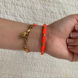 JUICY COUTURE Neon Coral Orange Festival Bracelet